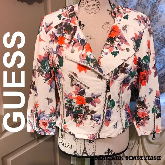 Guess Jackets & Blazers - 🆕SALE Guess Floral Orsola Faux Leather Jacket